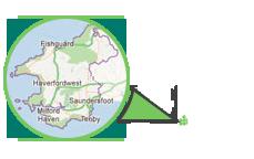Troediwr Map Cyfeiriad Sir Benfro