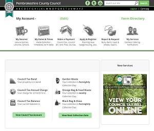 Your Online Council Account - Pembrokeshire County Council